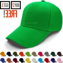 Baseball Caps for Men and Women Plain Hat Loop Adjustable Si