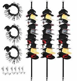 FGSS Baseball-Hat-Rack-Organizer Hanger Adjustable, 3 Pack B