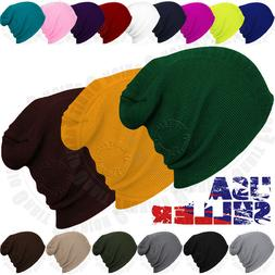 beanie plain knit hat winter warm cap
