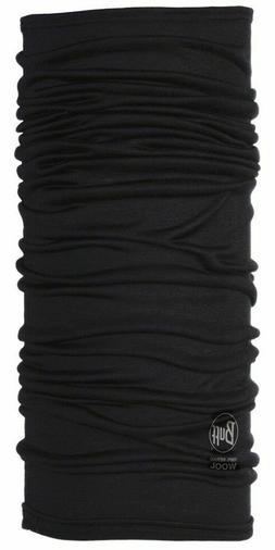 Buff Black Lightweight Merino Wool Multifunctional Headwear,