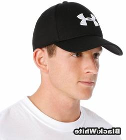 Under Armour Blitzing  Stretch Fit  Hat Hats Cap, Black/Whit