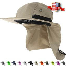 Boonie Snap Hat Brim Ear Neck Cover Sun Flap Cap Visor Fishi