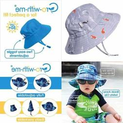 Boys AQUA Dry UV Sun Protection Swim Hat Adjustable Straps F