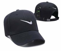 Brand New Nike Swoosh Adjustable Size Stripe Back Dad Tennis