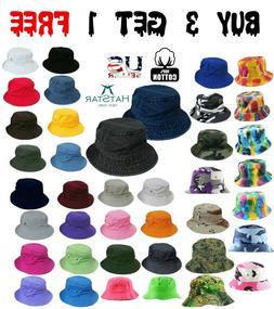 Bucket Hat Boonie Basic Hunting Fishing Outdoor Summer Cap U