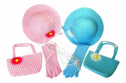 Butterfly Twinkles Girls Tea Party Hats Dress Up Play Set Fo