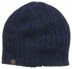 Haggar Men's Cable Knit Beanie, Navy, One Size