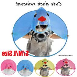 Cartoon Cute Rain Coat UFO Children Umbrella Hat Magical Han