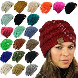 Hot item! CC Beanie New Women's Knit Slouchy Thick Cap Hat U