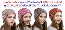 CC Beanie NYfashion101® Exclusive Women's Multi Color Cable