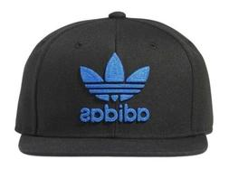 Mens Adidas Originals Trefoil Chain Snapback Hat - Black Bl