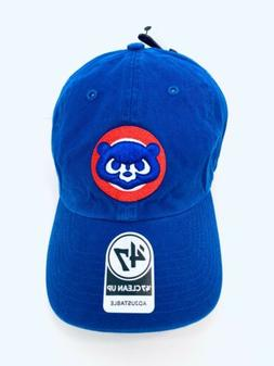 Chicaco Cubs 47 Brand Clean Up Adjustable Hat Dad Cap MLB Bl