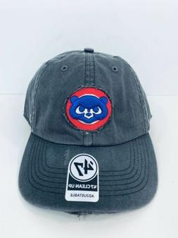 Chicago Cubs 47 Brand Clean Up Dad Hat Cap MLB Gray Cooperst