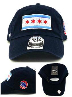 Chicago Cubs New 47 Brand Clean Up City of Flag Blue Slouch