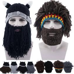 Christmas Gifts Hobo Barbarian Men Women Beard Wig Hat Dress