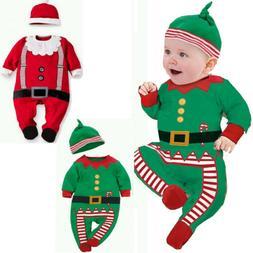 Christmas Newborn Baby Boys Girl Xmas Clothes Romper Bodysui