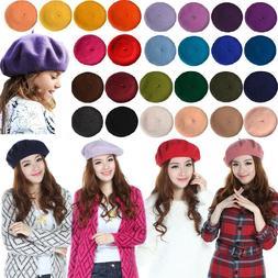 Girl Kids Retro Winter Beret Cap Hat Wool Warm French Artist
