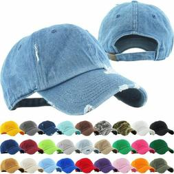 KBETHOS CLASSIC DISTRESSED Premium Adjustable Baseball Cap H