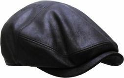 Classic PU Leather Newsboy Gatsby Ivy Hat Golf Driver Ascot