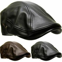 Kbethos Classic PU Leather Newsboy Gatsby Ivy Hat Driver Asc
