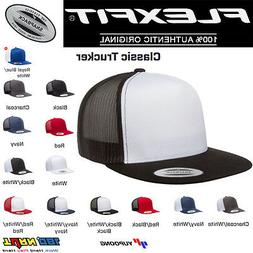 FLEXFIT Classic Trucker Mesh Snapback Hat Blank Cap 6006 600