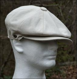 Cotton Newsboy Gatsby Cap Summer Ivy Hat Men Golf Flat Cabbi