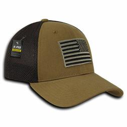 Coyote USA US American Flag Tactical Operator Mesh Flex Fit