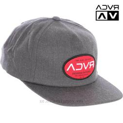 RVCA Creative Services Snapback Baseball Cap Hat Grey OS NWT