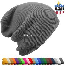 Cuff Beanie Knit Hat Winter Cap Slouchy Skull Ski Solid Men