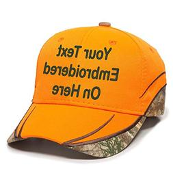 Custom Hat, Embroidered. Your Own Text. Adjustable Back. Cur
