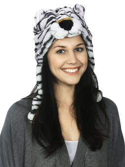 Cute Animal Hats For Women Girls Warm Winter Plush Fluffy Un