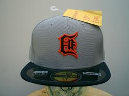 Detroit Tigers New Era Men's 59Fifty 5950 Gray Fitted Hat -