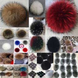 DIY Women's Faux Raccoon Fur Pom Poms Ball for Knitting Bean