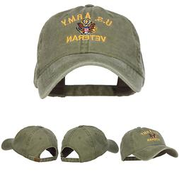 e4Hats.com US Army Veteran Military Embroidered Washed Cap -
