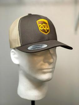 Embroidered UPS Baseball Hat /  UPS FLEXFIT SNAPBACK Trucker