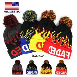 ChoKoLids Faded Flame LIT Pom Pom Beanie Fun Novelty Hats