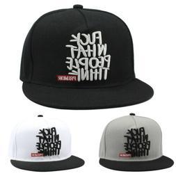 Fashion Men\'s Bboy Brim Adjustable Baseball Cap Snapback Hi