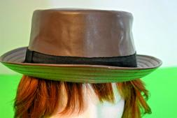 epoch Faux Leather Pork Pie Fedora F1954 Size S/M