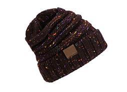 Female Ball Cap Pom Poms Winter Hat for Women Girl 'S Hat Kn