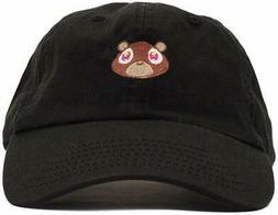 FGSS Mens Bear Print Adjustable Cotton Strapback Dad Hat Bas
