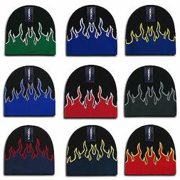 Decky Fire Flame Beanies Caps Hats Short Warm Winter Youth B