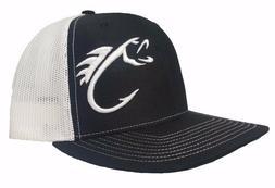Richardson Fishing Hook Snapback Hat, Trucker Cap for Men an