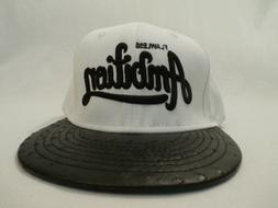 Flawless Ambition Men's KBETHOS Snapback Cap Hat White OSFA