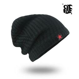 Mens Skullies Winter Hat Beanies Knitted Cotto Hip Hop Stoc