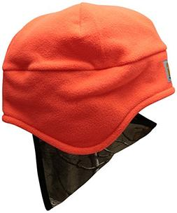 Carhartt Men's Fleece 2 in 1 Headwear, Brite Orange, One Siz