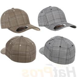 Flexfit® 6196 Fitted Ballcap Blank Cap Blank Golf Glen Chec