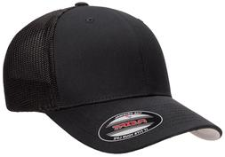 flexfit 6511 trucker mesh baseball cap plain