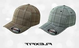 FLEXFIT Structured CHECK PLAID Golf Hat FITTED S/M L/XL Spor