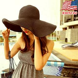 Foldable Large Brim Hat for Women UV Protection Summer Beach