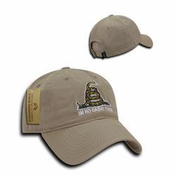 Gadsden Flag Hat Khaki Ballcap Don't Tread On Me Military US